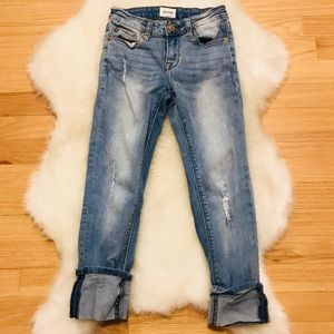 Hudson Girls Jeans, light blue & distressed. Sz 10